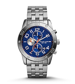 Mercer Navy and Silver-Tone Stainless Steel Watch