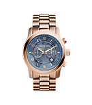 Watch Hunger Stop Oversized Runway Rose Gold-Tone Stainless Steel Watch