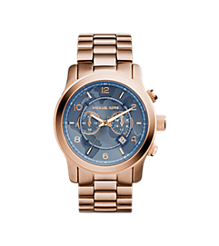Watch Hunger Stop Oversized Runway Rose Gold-Tone Watch by Michael Kors