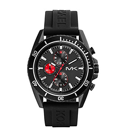 Jetmaster Black Stainless Steel and Silicone Watch