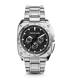 Grandstand Silver-Tone Stainless Steel Watch