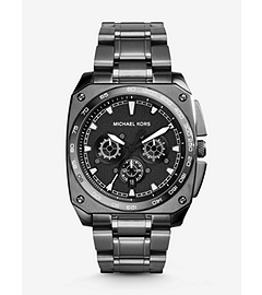 Grandstand Gunmetal-Tone Watch by Michael Kors