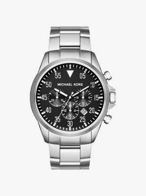 Gage Silver-Tone Watch by Michael Kors