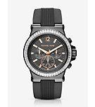 Dylan Pavé Gunmetal Silicone Watch