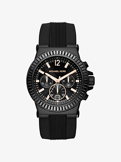 Dylan Pavé Black Silicone Watch by Michael Kors