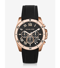 Brecken Gold-Tone and Silicone Watch by Michael Kors