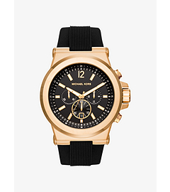 Dylan Gold-Tone and Silicone Watch by Michael Kors