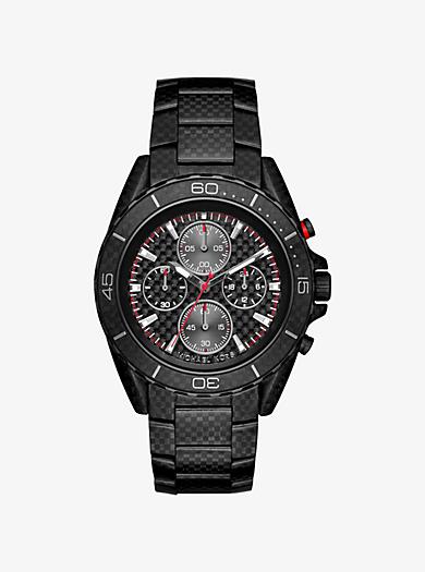 JetMaster Black-Tone Carbon Fiber Watch by Michael Kors