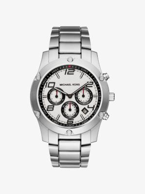 Caine Silver-Tone Watch by Michael Kors