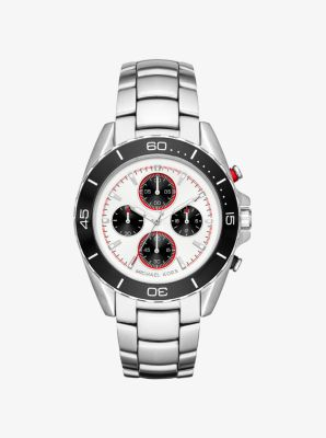 JetMaster Silver-Tone Watch by Michael Kors