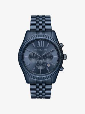 Lexington Blue-Tone Watch by Michael Kors