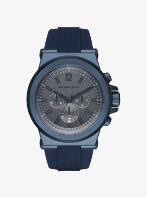 Dylan Blue-Tone and Silicone Watch by Michael Kors