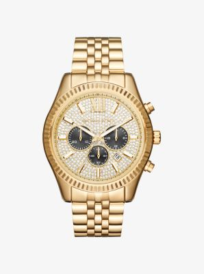 마이클 코어스 메탈 시계 Michael Kors Lexington Gold-Tone Watch,GOLD