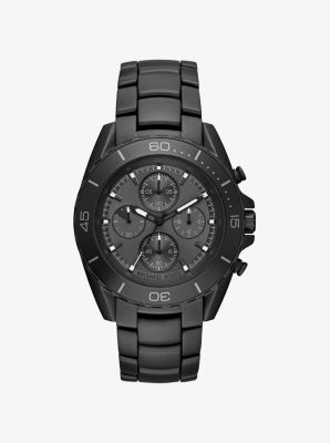 JetMaster Black-Tone IP Watch by Michael Kors