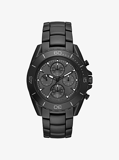 Orologio JetMaster IP nero by Michael Kors