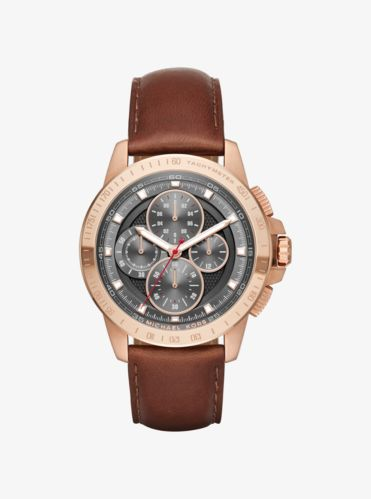watches for men gold silver tone leather smartwatches ryker rose gold tone and leather watch