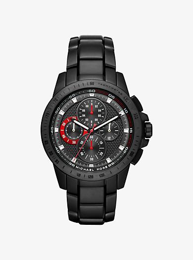 Ryker Black-Tone Watch by Michael Kors
