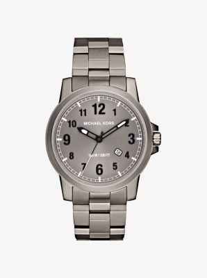 Paxton Gunmetal-Tone Watch by Michael Kors