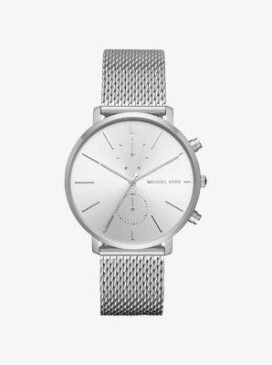Jaryn Mesh Silver-Tone Watch by Michael Kors