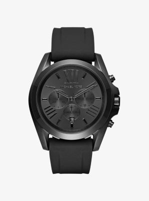bradshaw black tone and silicone watch michael kors. Black Bedroom Furniture Sets. Home Design Ideas