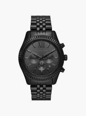 마이클 코어스 메탈 시계 Michael Kors Lexington Black-Tone Watch,BLACK