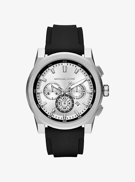 Grayson Silver-Tone Silicone Watch