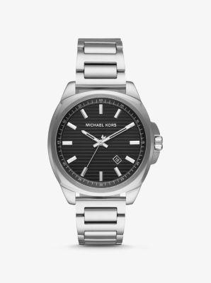 Michael Kors Bryson Silver-Tone Watch,SILVER
