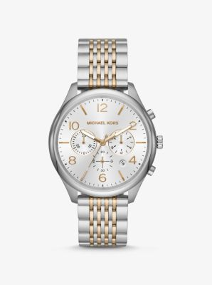 마이클 코어스 남성 시계 Michael Kors Oversized Merrick Two-Tone Watch,TWO TONE
