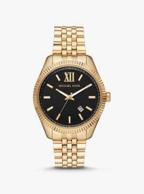 Michael Kors Oversized Lexington Gold-Tone Watch,TWO TONE