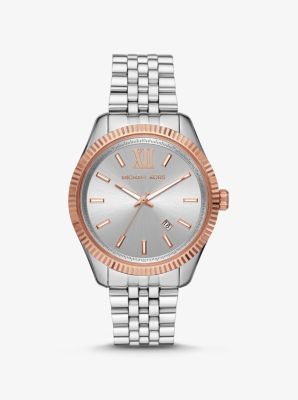 Michael Kors Oversized Lexington Two-Tone Watch,TWO TONE