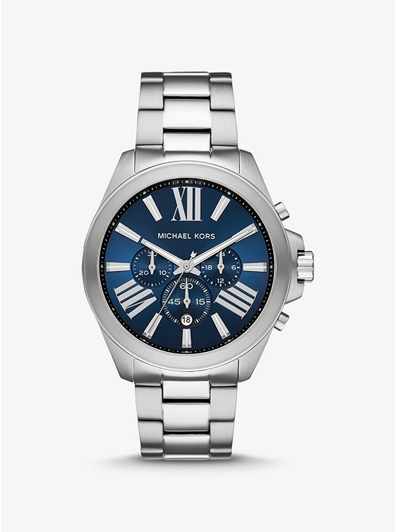 Oversized Wren Silver-Tone Watch | Michael Kors