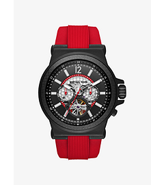 Dylan Automatic Black-Tone and Silicone Watch  by Michael Kors