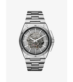 Wilder Automatic Silver-Tone Watch by Michael Kors