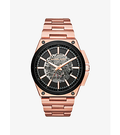 Wilder Automatic Rose Gold-Tone Watch by Michael Kors