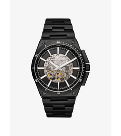 Wilder Automatic Black-Tone Watch by Michael Kors