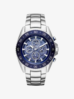 JetMaster Automatic Silver-Tone Watch by Michael Kors