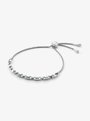 마이클 코어스 팔찌 Michael Kors Precious Metal-Plated Sterling Silver Mercer Link Slider Bracelet