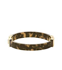 Tortoise Acetate Gold-Tone Hinge Bangle
