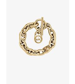 Gold-Tone Chain-Link PadLock Bracelet