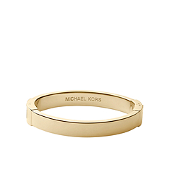 Gold-Tone Hinge Bangle