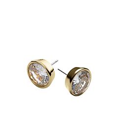 Crystal Gold-Tone Medium Stud Earrings