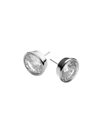 Crystal Silver-Tone Medium Stud Earrings by Michael Kors