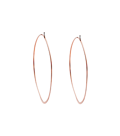 Rose Gold-Tone Hoop Earrings