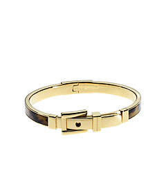Bedford Tortoise Acetate Gold-Tone Buckle Bangle