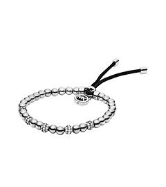 Silver-Tone Bead Stretch Bracelet