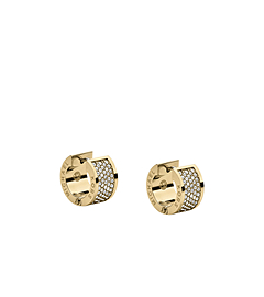 Pavé-Embellished Gold-Tone Hug Earrings