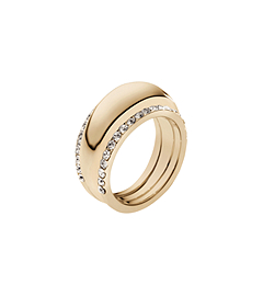 Pavé-Embellished Gold-Tone Insert Ring