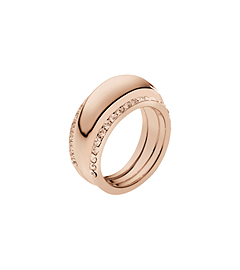 Pavé-Embellished Rose Gold-Tone Insert Ring