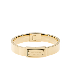 Gold-Tone Plaque Bracelet