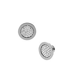 Pavé-Embellished Silver-Tone Stud Earrings